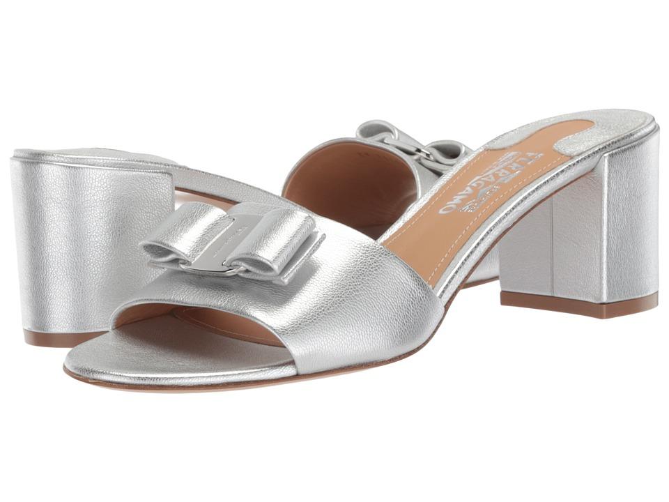 Salvatore Ferragamo Eolie 1 (Argento Flair Silk) High Heels