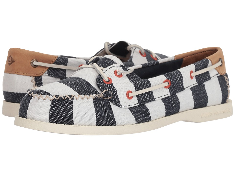 Sperry A/O Venice Canvas (Navy/White) Women's Shoes