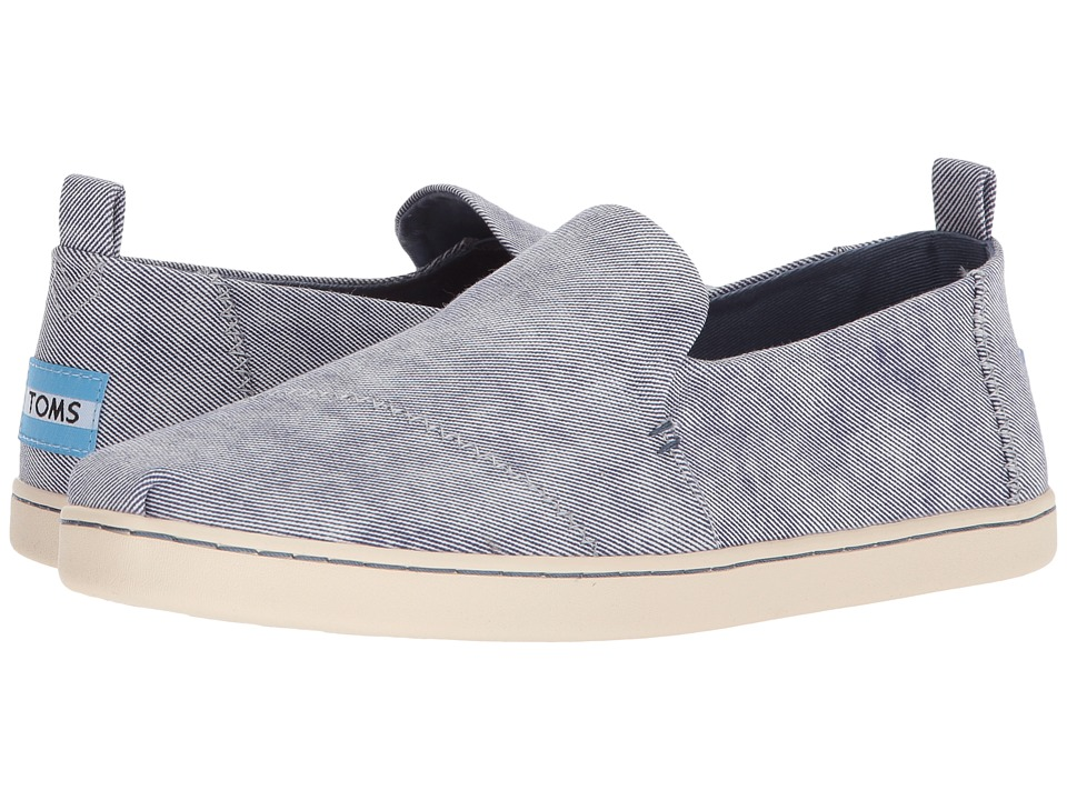 TOMS Deconstructed Alpargata (Slate Blue Washed Twill) Slip-On Shoes