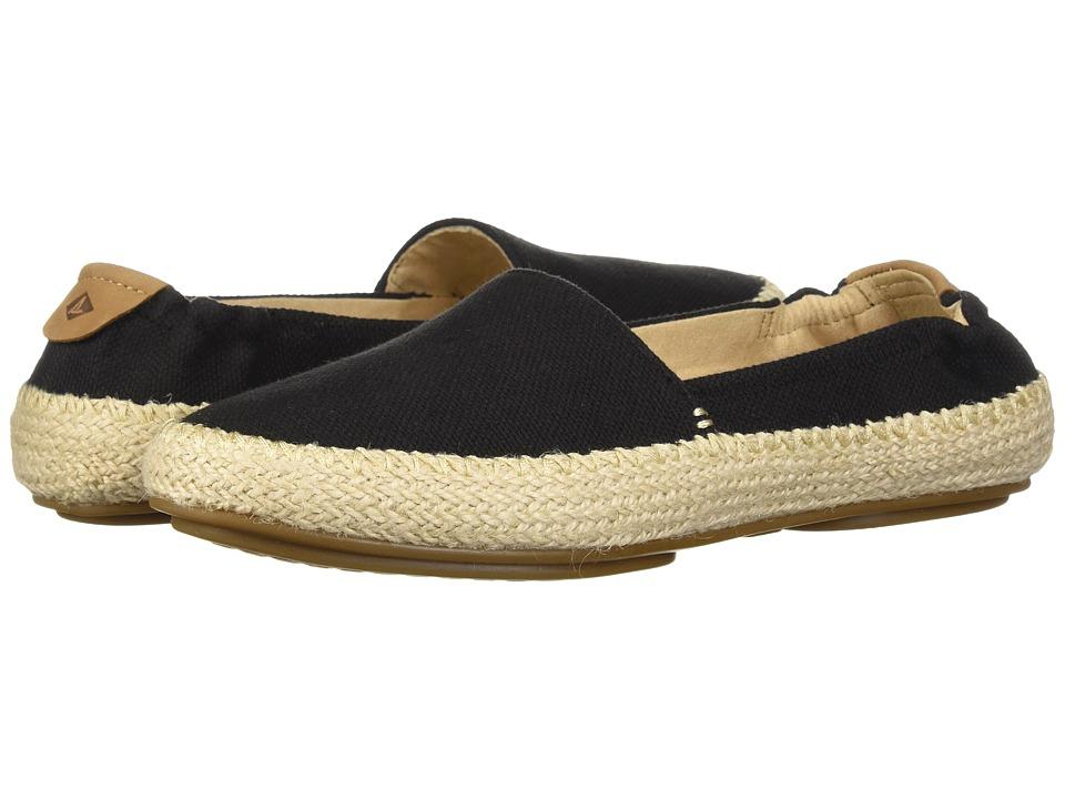 Sperry Sunset Ella Canvas (Black) Women's Shoes