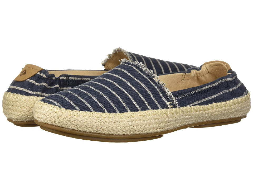 Sperry Sunset Ella Canvas (Navy) Women's Shoes