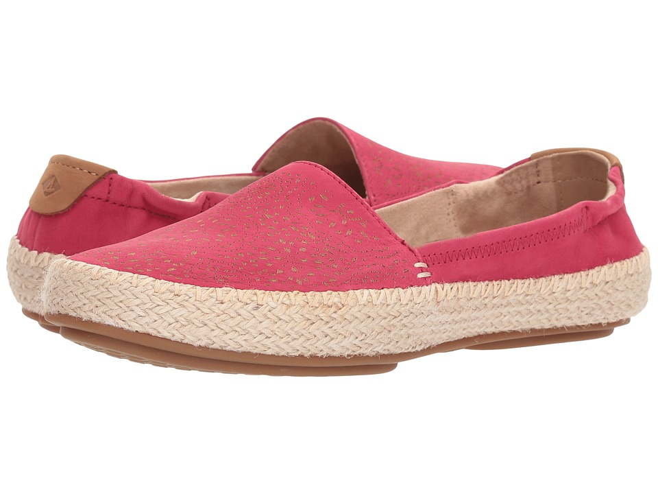 Sperry Sunset Ella Nubuck Etch (Bright Pink) Women's Shoes