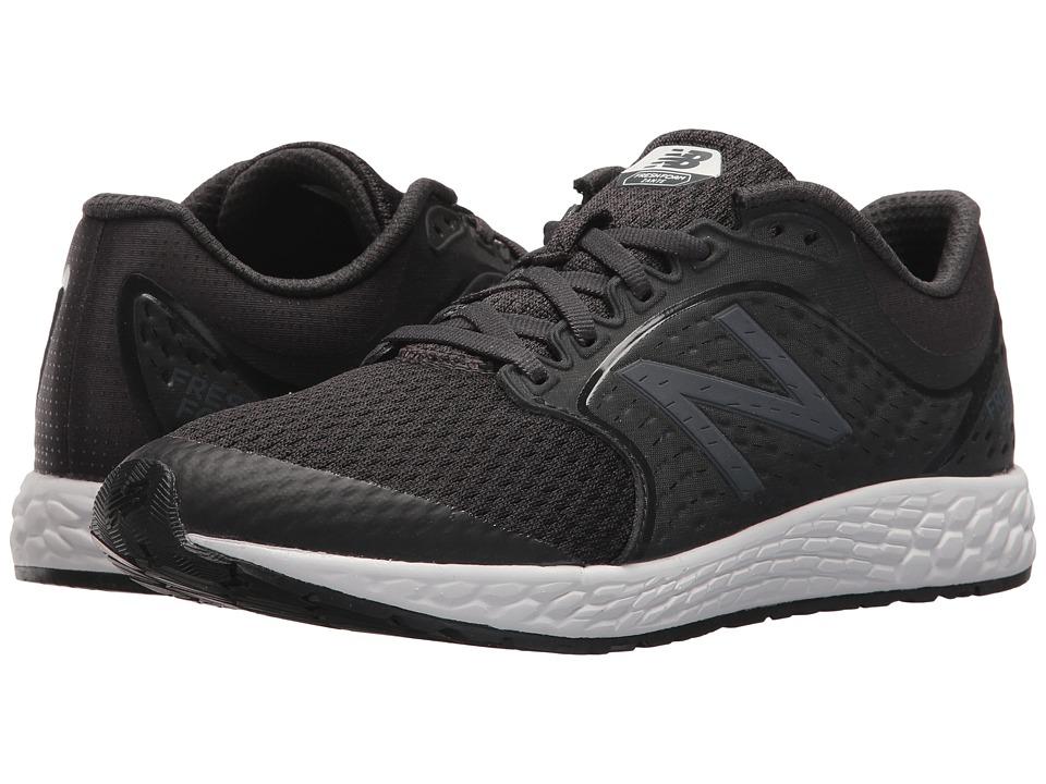 New Balance Kids KJZNTv4G (Big Kid) (Black/White) Kids Shoes