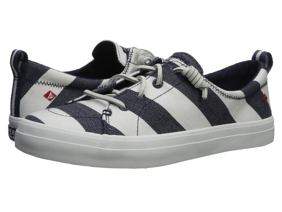 Sperry - Crest Vibe Breton Stripe (Navy/White) Womens Shoes