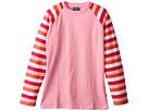 Toobydoo Heather Tee w/ Stripe Sleeves (Toddler/Little Kids/Big Kids)