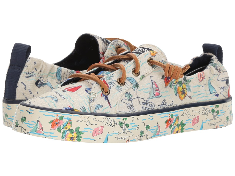 Sperry Crest EBB Map (Natural Multi) Women
