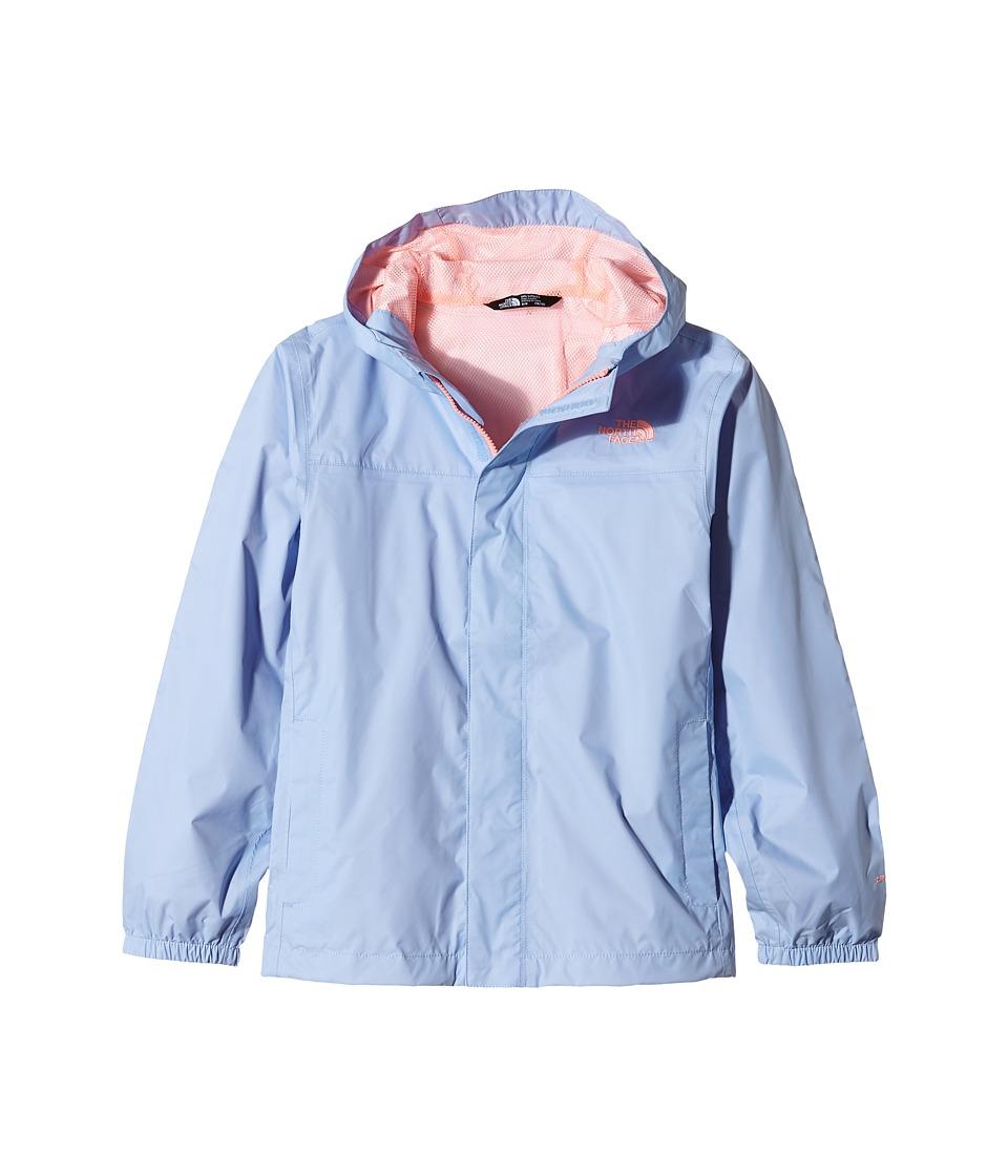 The North Face Kids Zipline Rain Jacket (Little Kids/Big Kids) (Collar Blue/Mid Grey/TNF White/High-Rise Grey) Girl