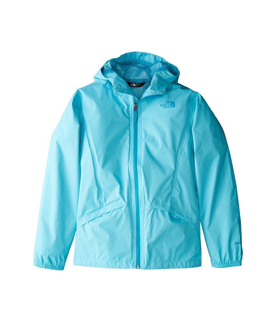 The North Face Kids Zipline Rain Jacket (Little Kids/Big Kids) (Blue Curacao/Algiers Blue/Algiers Blue) Girl
