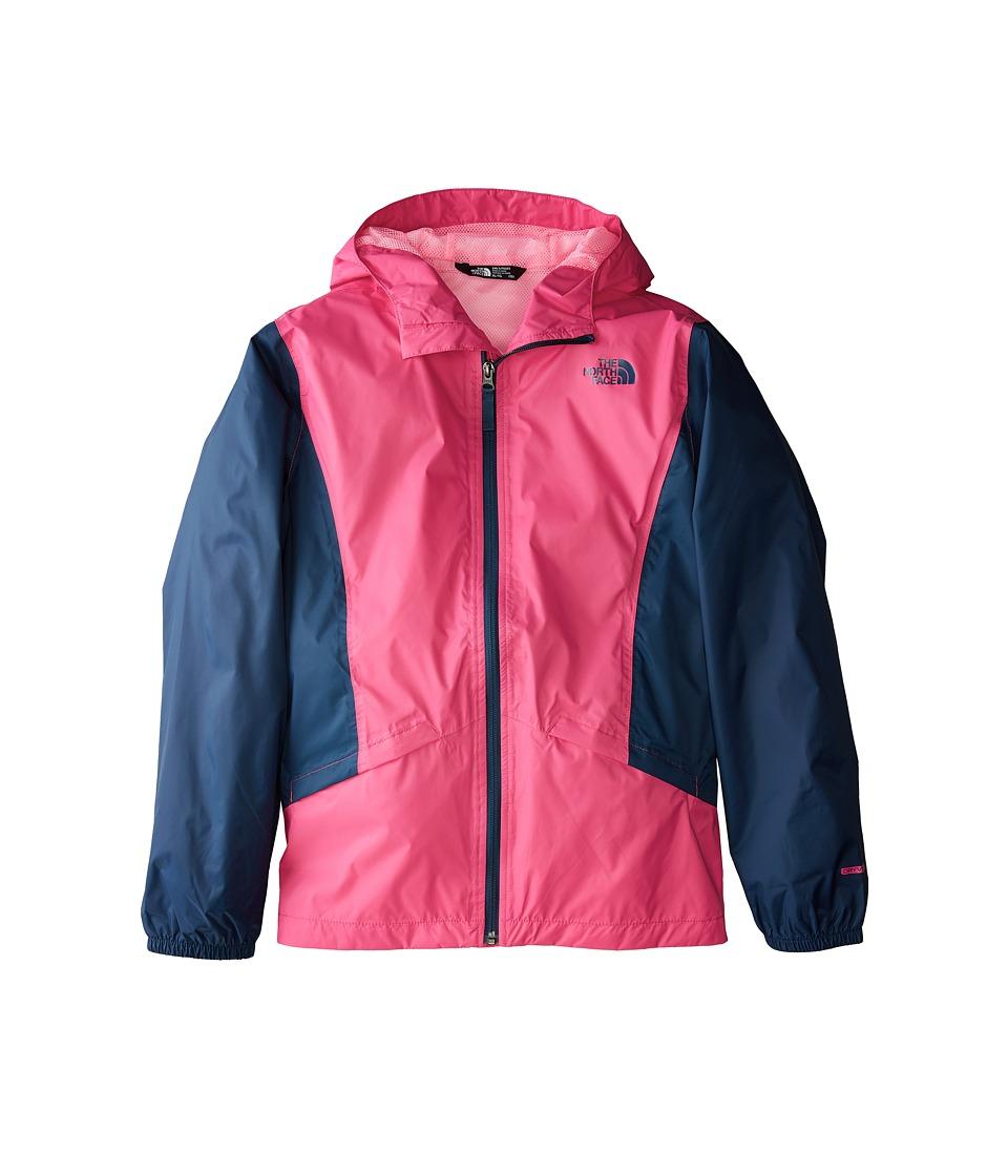 The North Face Kids Zipline Rain Jacket (Little Kids/Big Kids) (Petticoat Pink/Blue Wing Teal/Gem Pink) Girl