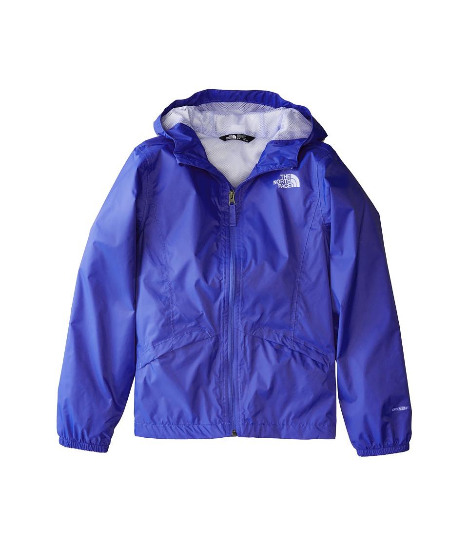 The North Face Kids Zipline Rain Jacket (Little Kids/Big Kids) (Dazzling Blue/Collar Blue/Collar Blue) Girl