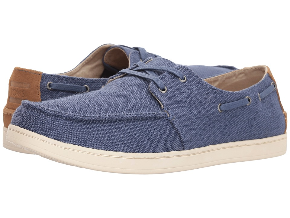 TOMS - Culver Lace-Up (Cadet Blue Heritage Canvas) Mens Lace up casual Shoes