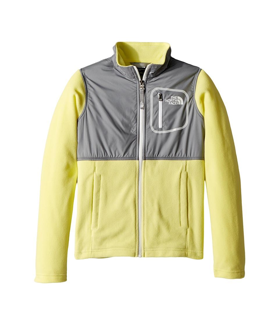 The North Face Kids Glacier Track Jacket (Little Kids/Big Kids) (Stinger Yellow/Mid Grey/TNF White) Girl