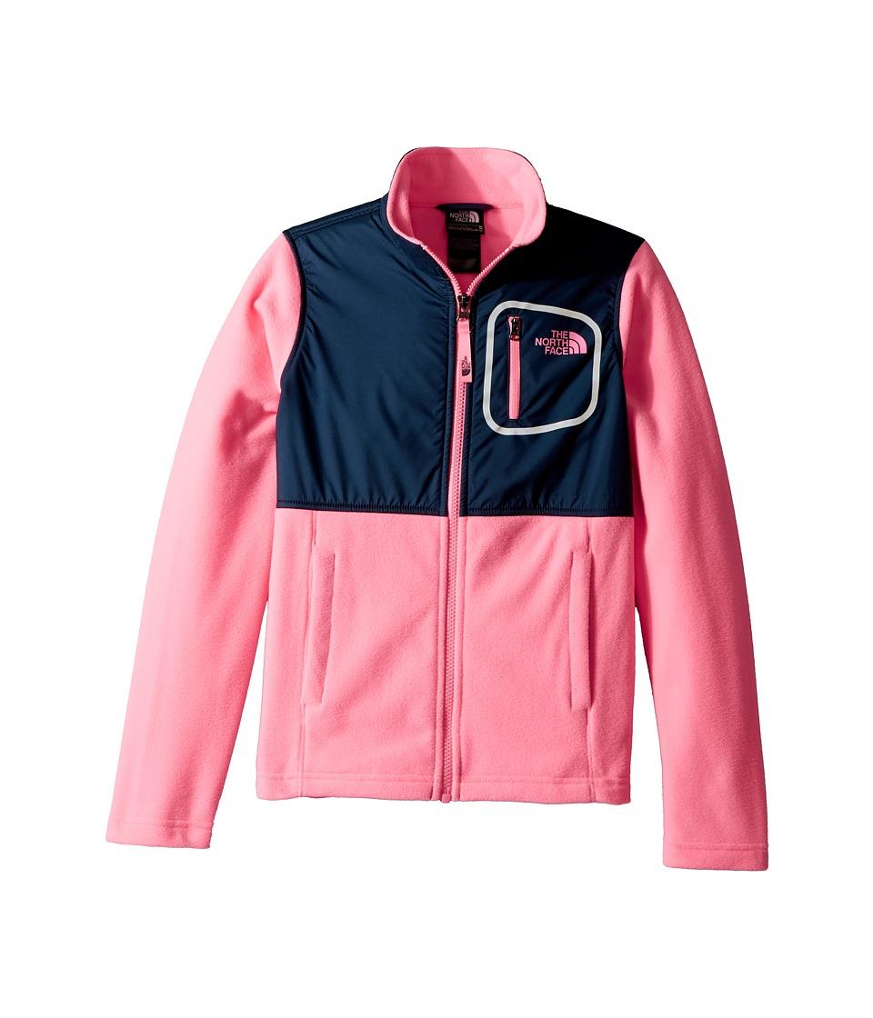 The North Face Kids Glacier Track Jacket (Little Kids/Big Kids) (Gem Pink/Blue Wing Teal) Girl