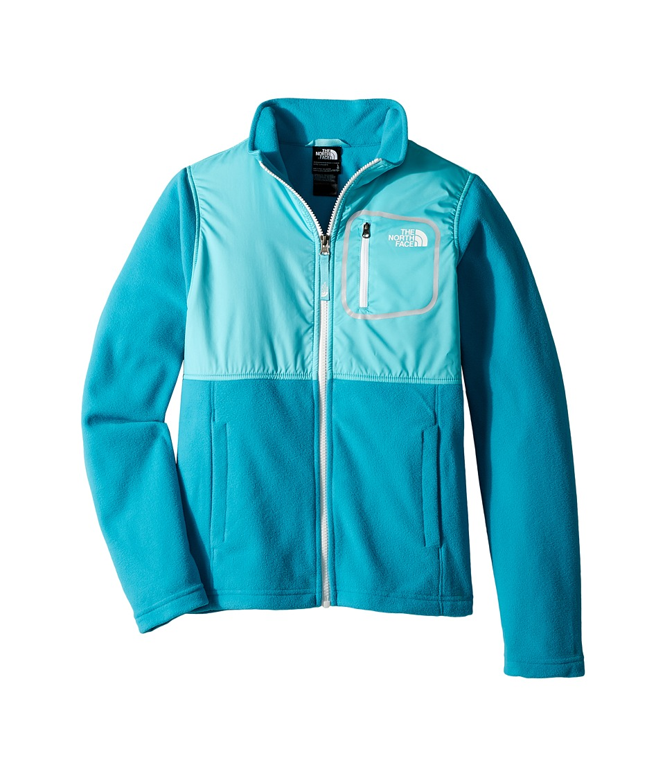 The North Face Kids Glacier Track Jacket (Little Kids/Big Kids) (Algiers Blue/Blue Curacao/TNF White) Girl