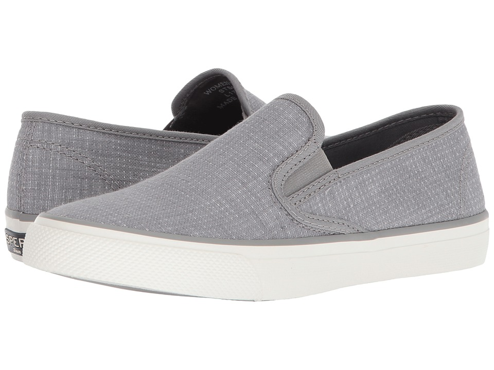 Sperry Seaside Two-Tone Linen (Grey/White) Women's Shoes