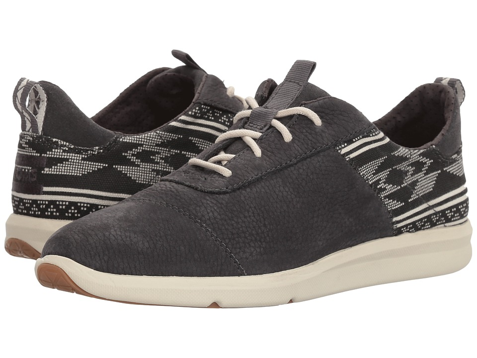 TOMS Cabrillo (Forged Iron Grey Nubuck/Ethnic Tribal)