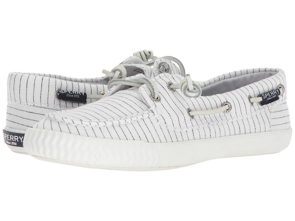 Sperry Sayel Away Pin Stripe (White/Black) Women's Shoes
