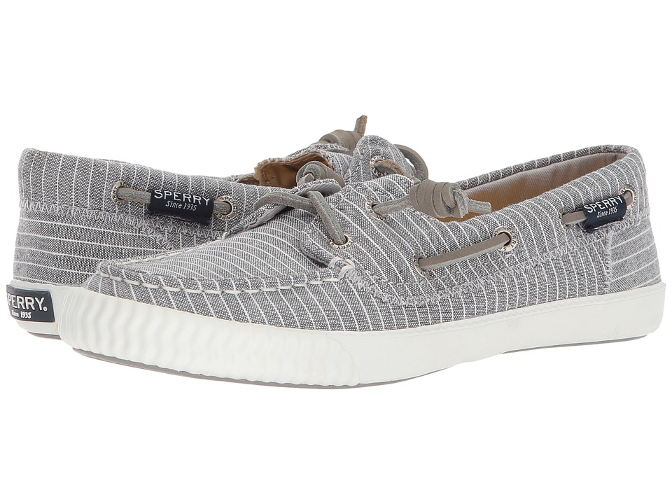 Sperry Sayel Away Pin Stripe (Grey/White) Women's Shoes