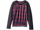 Toobydoo Fancy Flannel Sweatshirt w/ Sparkle Belt (Toddler/Little Kids/Big Kids)