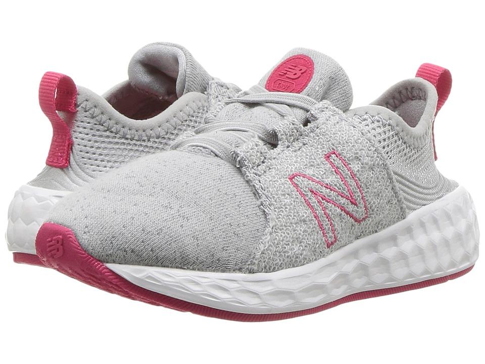 New Balance Kids KJCRZv1P (Infant/Toddler) (Silver Mink/Magnetic Pink) Girls Shoes
