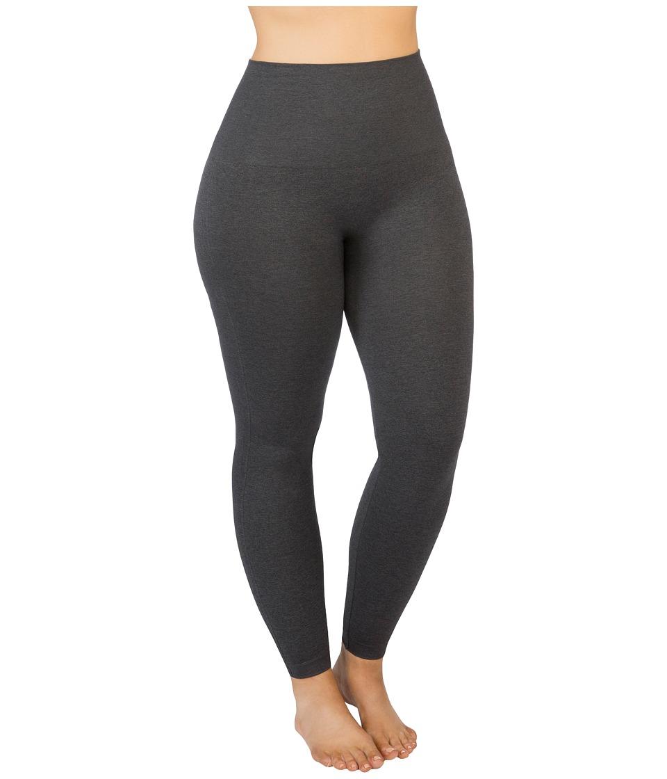 Spanx - Plus Size Seamless Print Leggings (Heather Charcoal) Womens Clothing