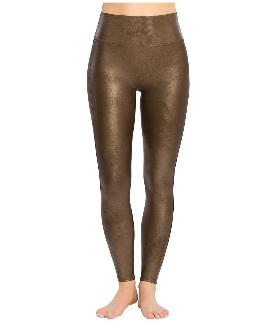 Spanx - Ready-to-Wow!tm Faux Leather Leggings (Bronze Metal) Womens Casual Pants