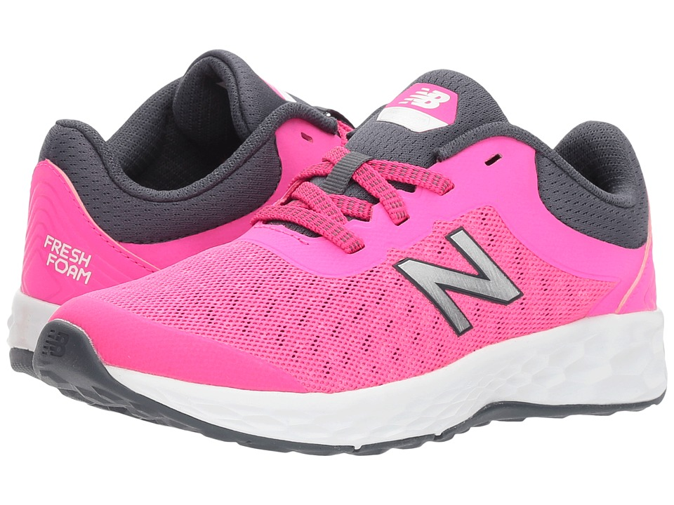 New Balance Kids - KJKAYv1Y (Little Kid/Big Kid) (Pink Glo/Thunder) Girls Shoes