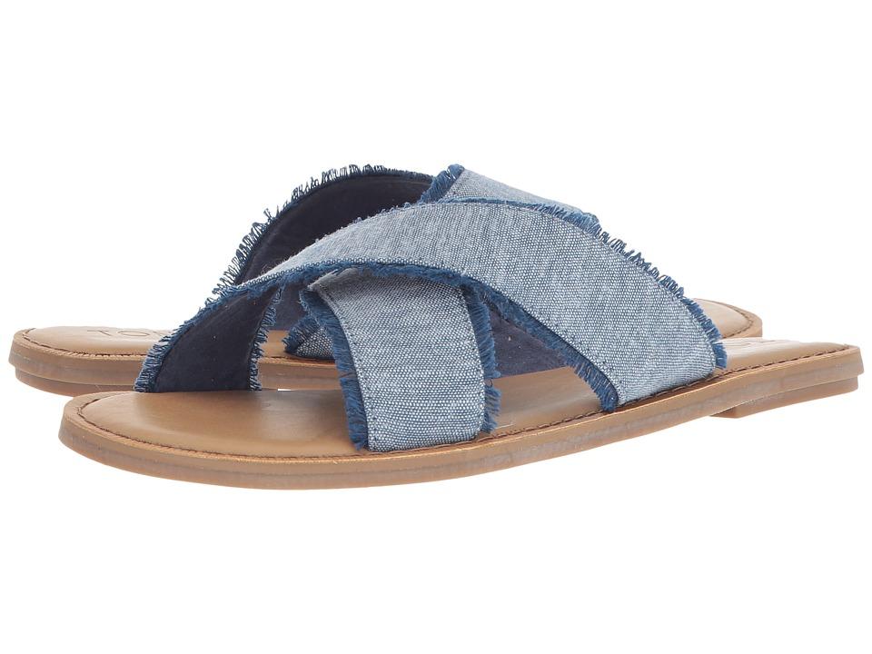 TOMS Viv (Blue Slub Chambray) Sandals