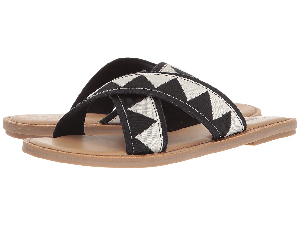 TOMS Viv (Black Tribal) Sandals