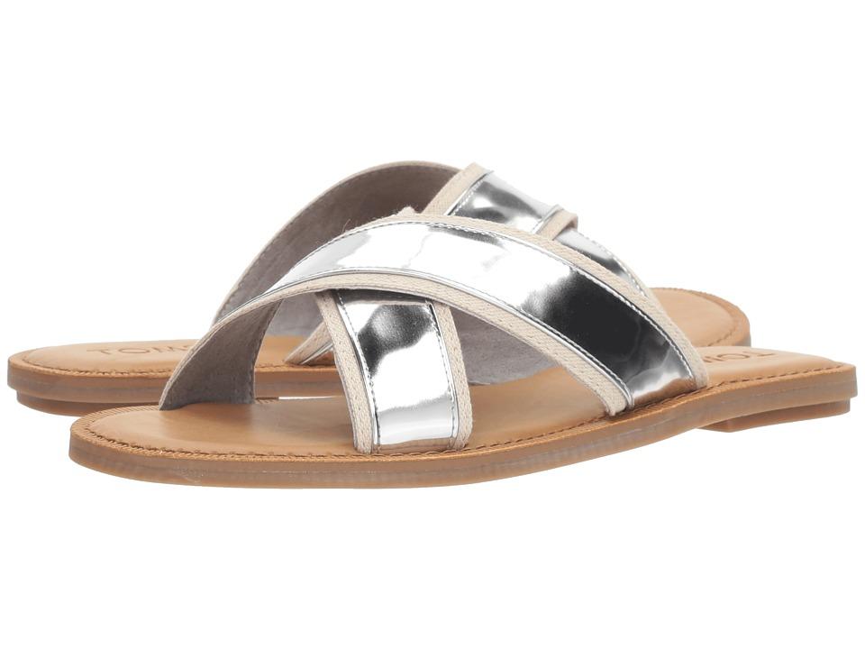 TOMS - Viv (Silver Specchio) Women's Sandals