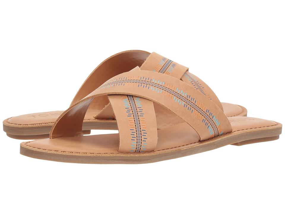 TOMS Viv (Honey Leather/Emossed) Sandals