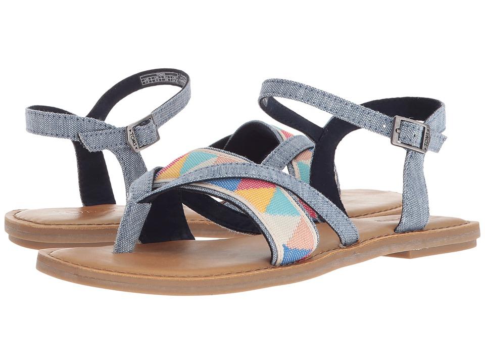 TOMS Lexie Sandal (Blue Slub Chambray/Multi Tribal) Sandals