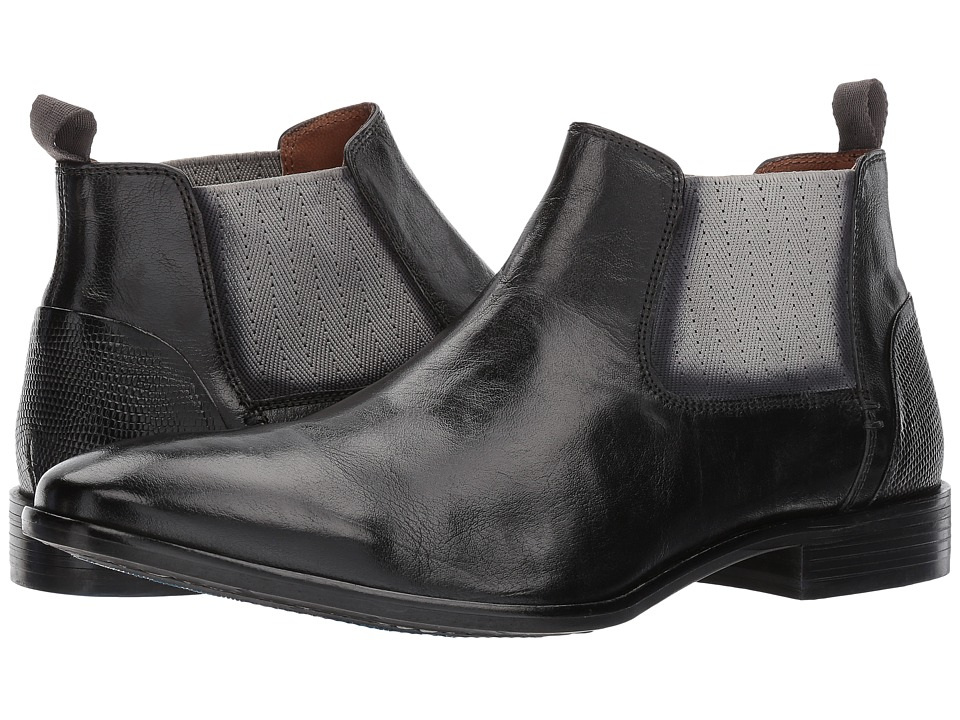 Steve Madden Augustus (Black Leather) Men