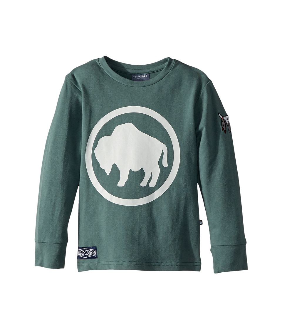 Toobydoo - Camp Buffalo Buffalo Tee (Infant/Toddler/Little Kids/Big Kids) (Olive) Boys T Shirt