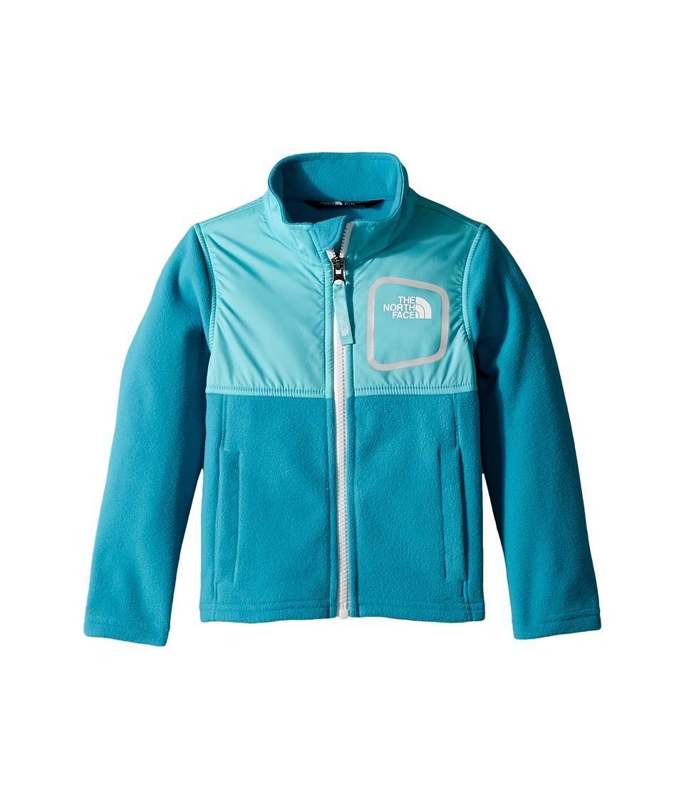 The North Face Kids Glacier Track Jacket (Algiers Blue/Blue Curacao/TNF White) Girl