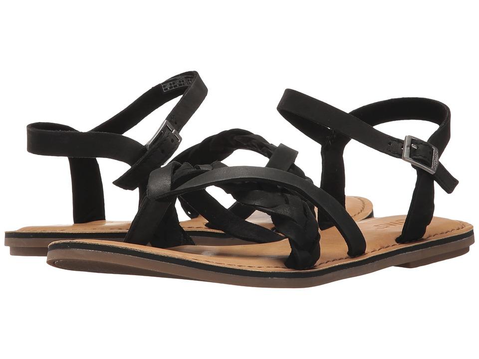 TOMS - Lexie Sandal (Black Leather) Women's Sandals