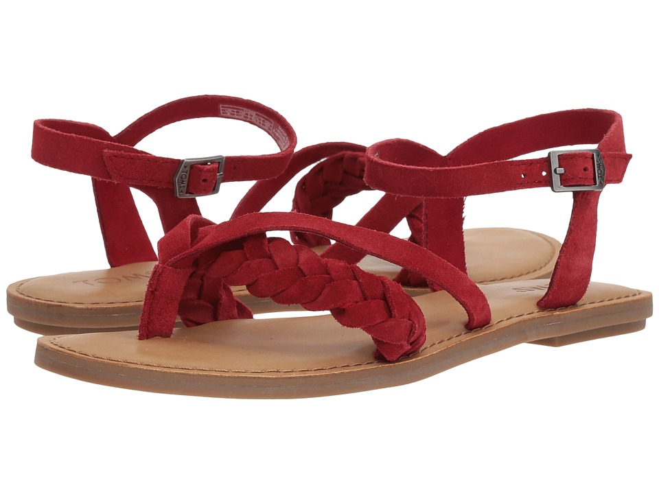TOMS Lexie Sandal (Red Suede) Sandals