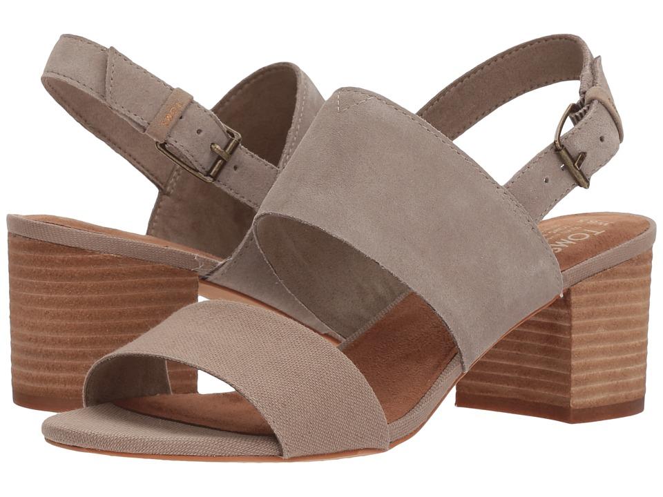 TOMS - Poppy (Desert Taupe Suede/Hemp) Women's Sandals