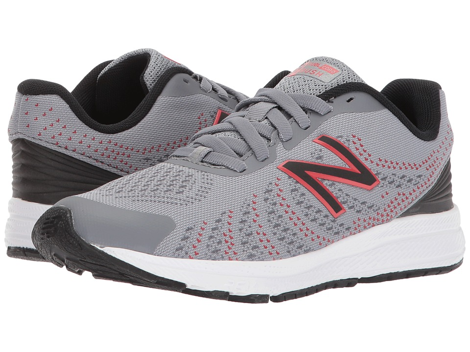 New Balance Kids KJRUSv3P (Little Kid) (Grey/Black) Boys Shoes