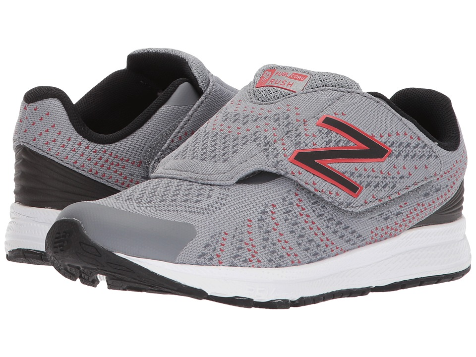 New Balance Kids KVRUSv3P (Little Kid) (Grey/Black) Boys Shoes
