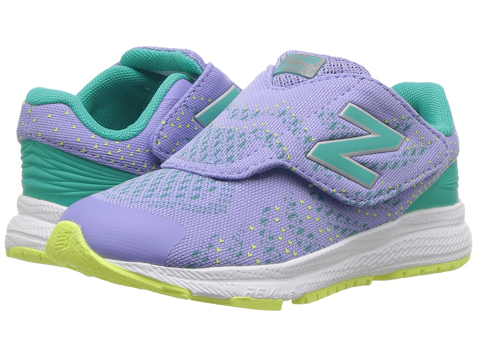 New Balance Kids Hook and Loop FuelCore Rush v3 (Infant/Toddler) (Tidepool/Ice Violet) Girls Shoes