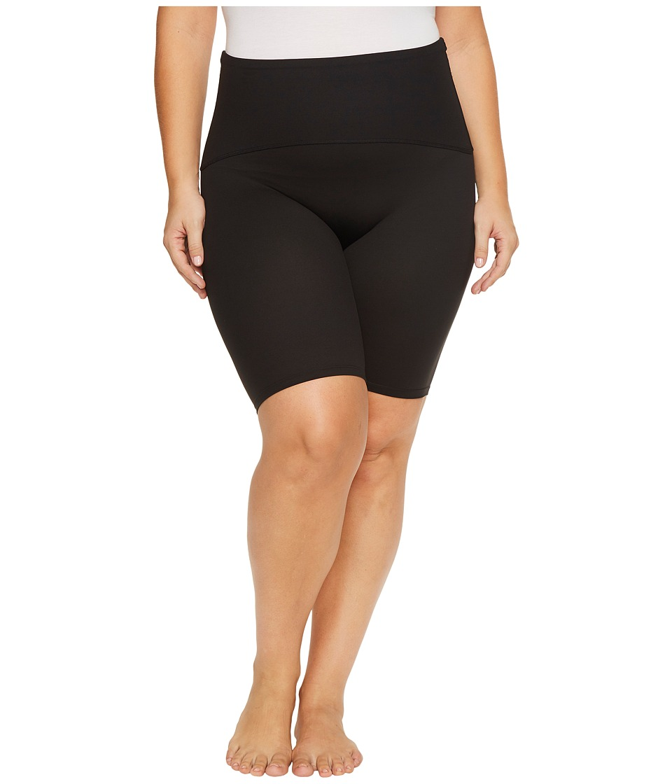 Spanx Plus Size Active 4 Shorts (Black) Women's Workout