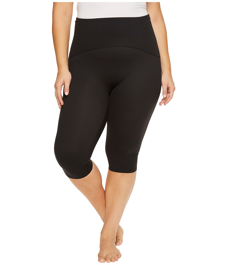 Spanx Plus Size Active Compression Knee Pants (Black) Women