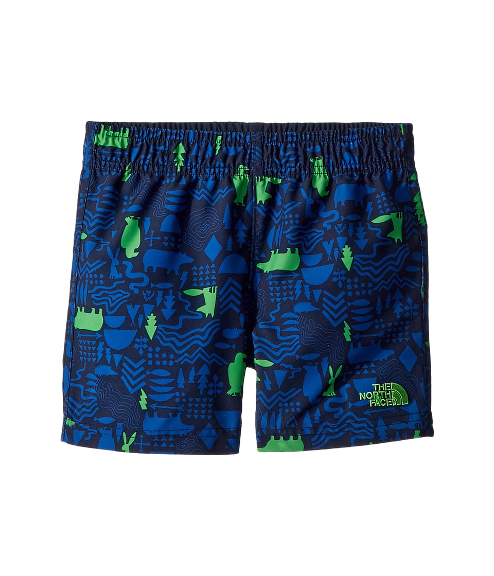 The North Face Kids - Hike/Water Shorts (Toddler) (Cosmic Blue Wild West Critters Print/Classic Green) Boys Shorts