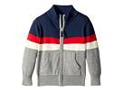 Toobydoo Color Block Zip Sweater (Infant/Toddler/Little Kids/Big Kids)