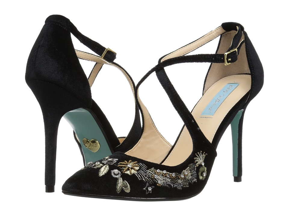 Blue by Betsey Johnson Skye (Black Velvet) High Heels
