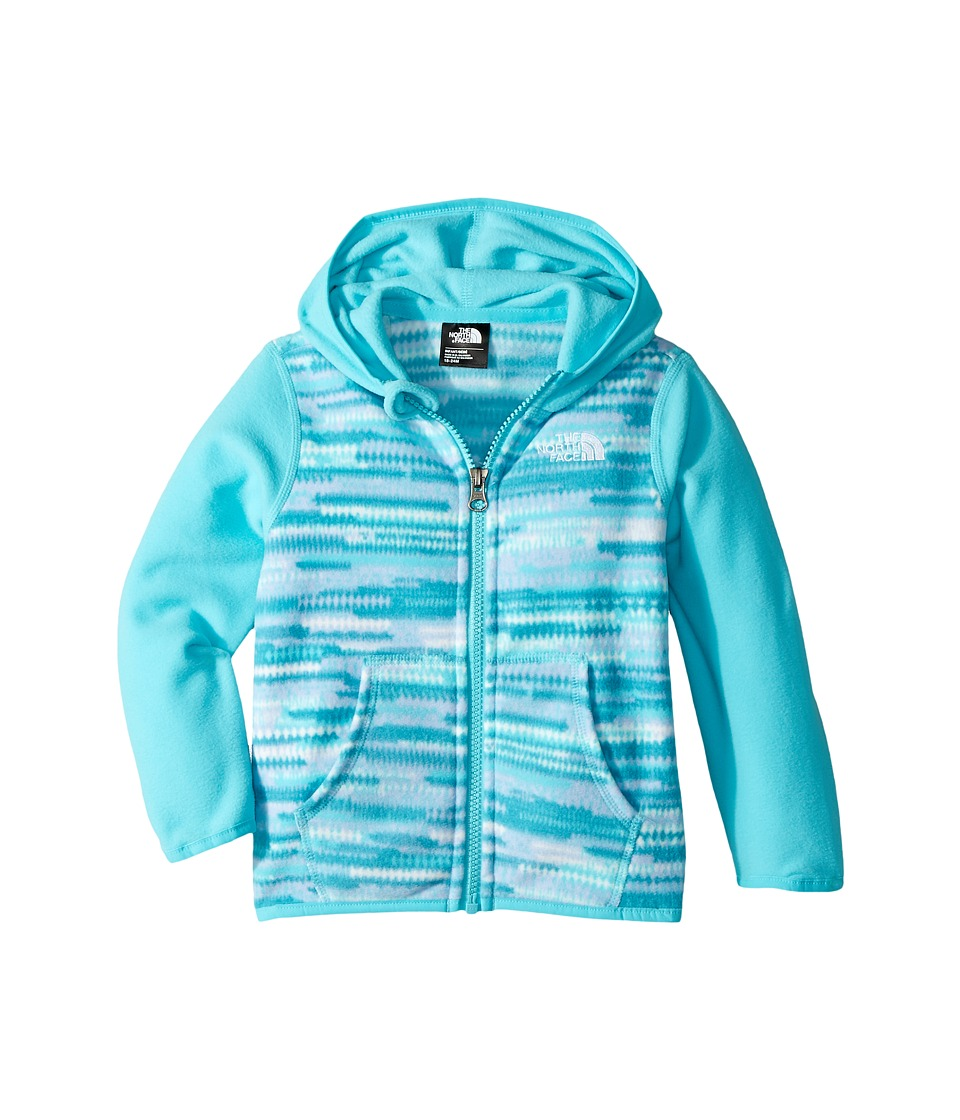 The North Face Kids - Glacier Full Zip Hoodie (Infant) (Algiers Blue Loom Print/Blue Curacao/TNF White) Girls Sweatshirt