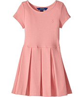 Polo Ralph Lauren Kids - Pleated Ribbed Ponte Dress (Toddler)