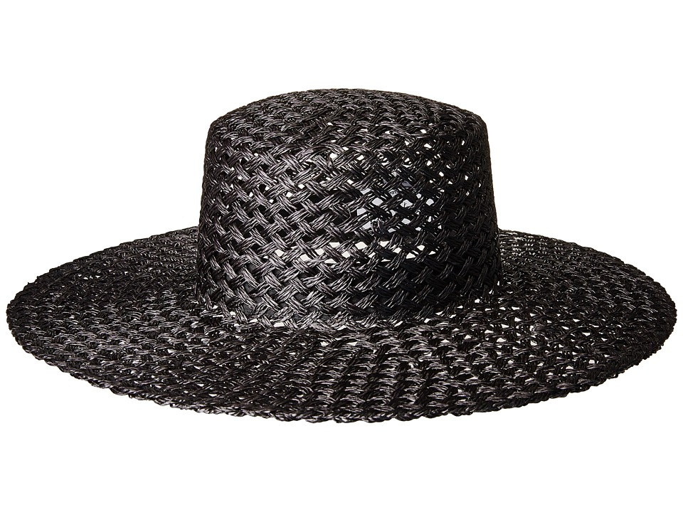 Lack of Color - Sunnydip Noir Straw Boater