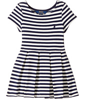 Polo Ralph Lauren Kids - Striped Pleated Ponte Dress (Toddler)